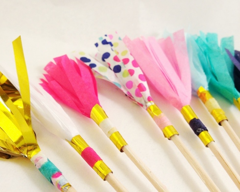 Sparkle Motion Decor fringe drink stirrers